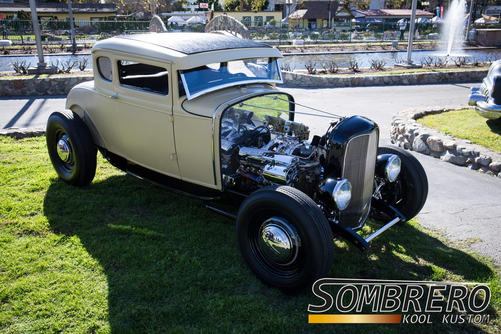 1930-31 Ford Model A Coupé, Cadillac V8, 1932 Ford Rahmen