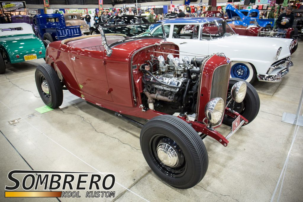 1932 Ford Roadster, Hot Rod, Suede Palace, Oldsmobile Rocket V8, Kingsmen Compton