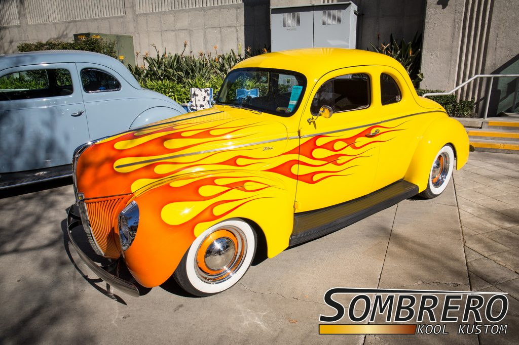 1940 Ford 5-Window Coupé, Flames Paintjob