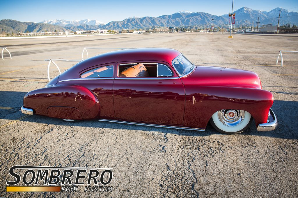 1949/50 Chevy Fleetline, Top Chop, Candy Lackierung, Cadillac Sombrero