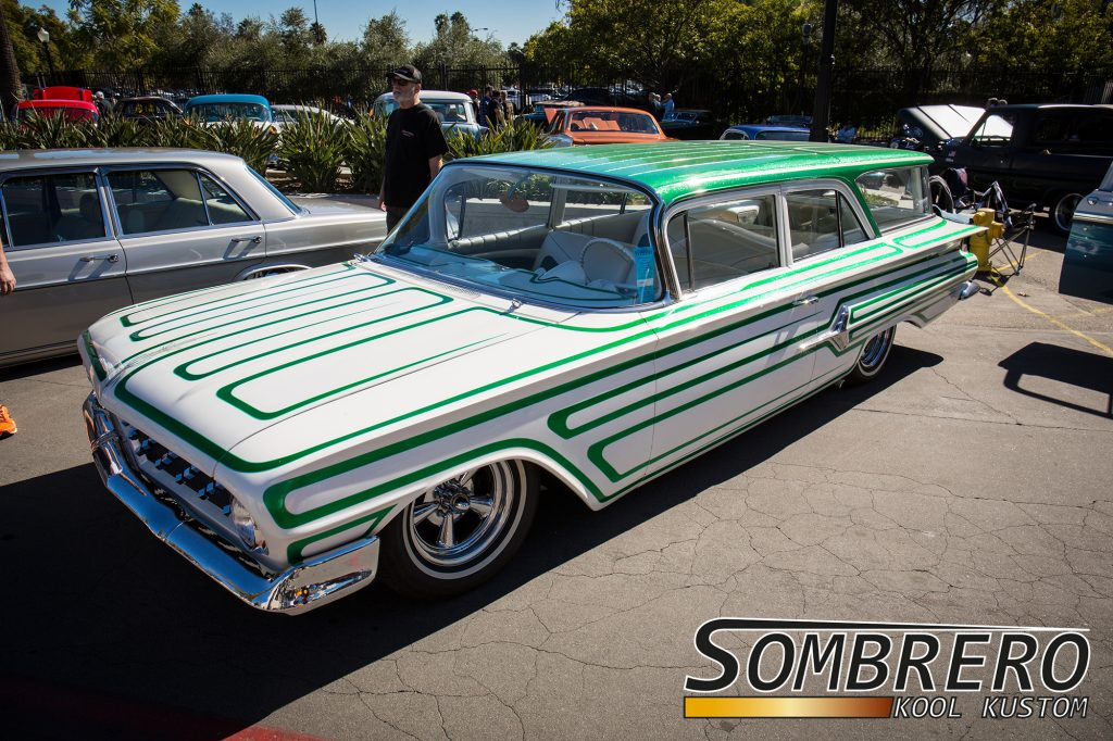 1960 Chevrolet 2dr Station Wagon, Scallops Paintjob, 5 Spokes, Astro Supremes, Metalflake