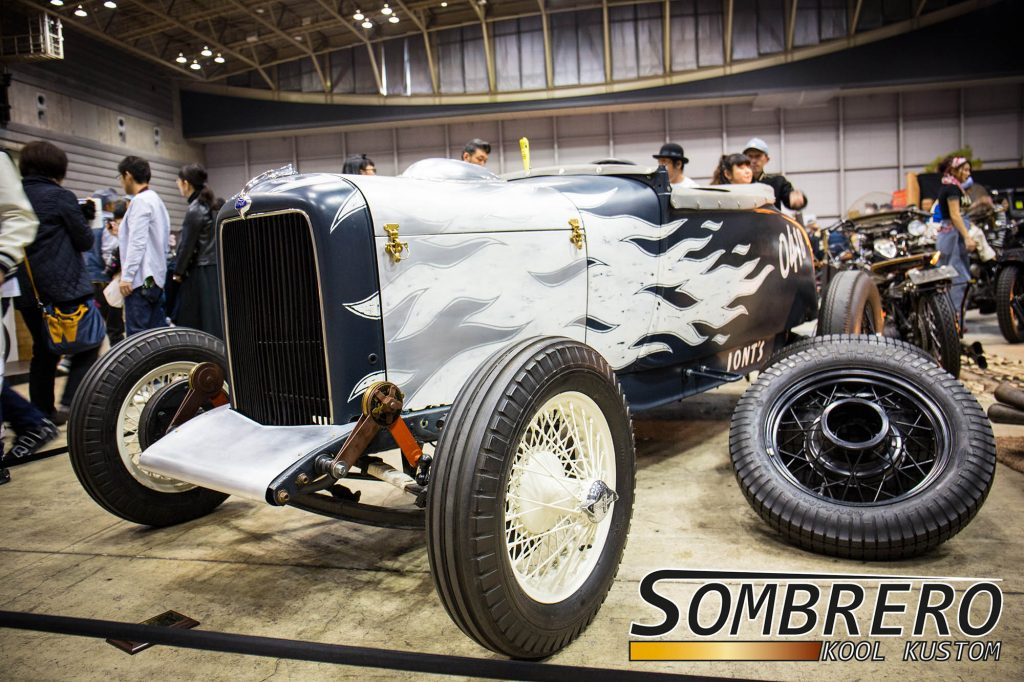 1928-29 Ford Model A Roadster, Racer, Flammenlackierung