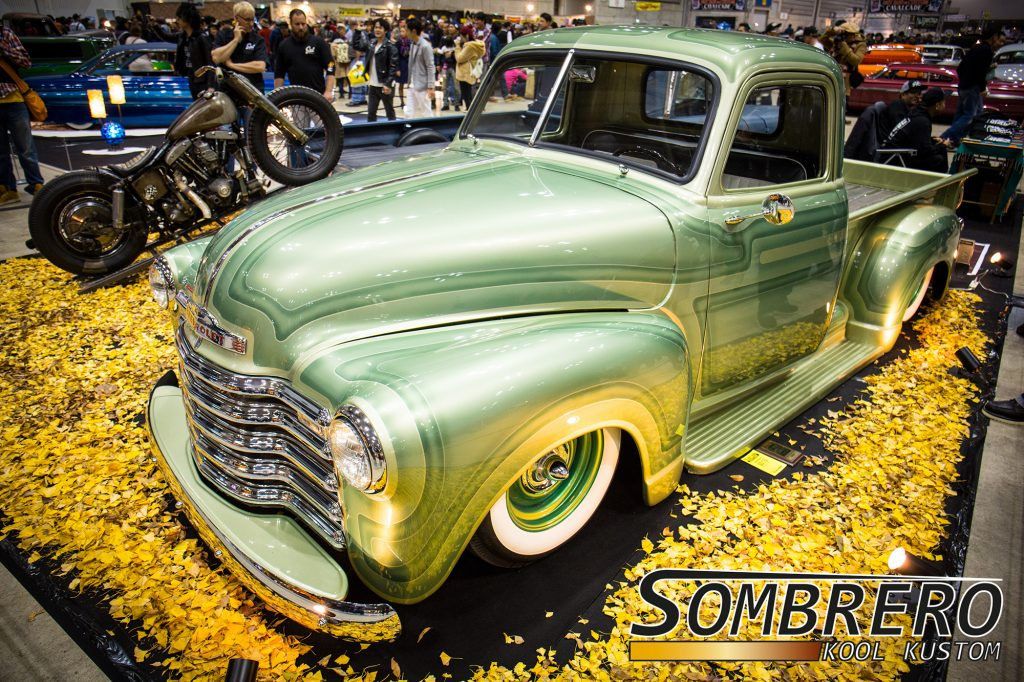1949 Chevrolet Pick-up, Panel Paintjob, Airride, Kustom Car, Bullet Caps