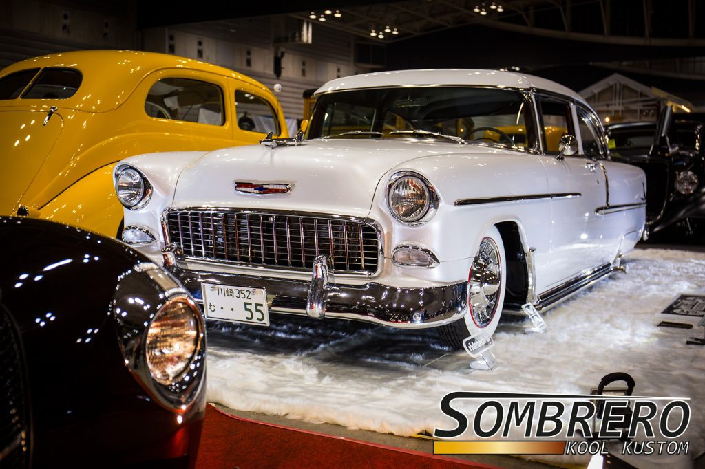 1955 Chevrolet Bel Air 2dr Sedan, Perlweiße Lackierung, Lakepipes