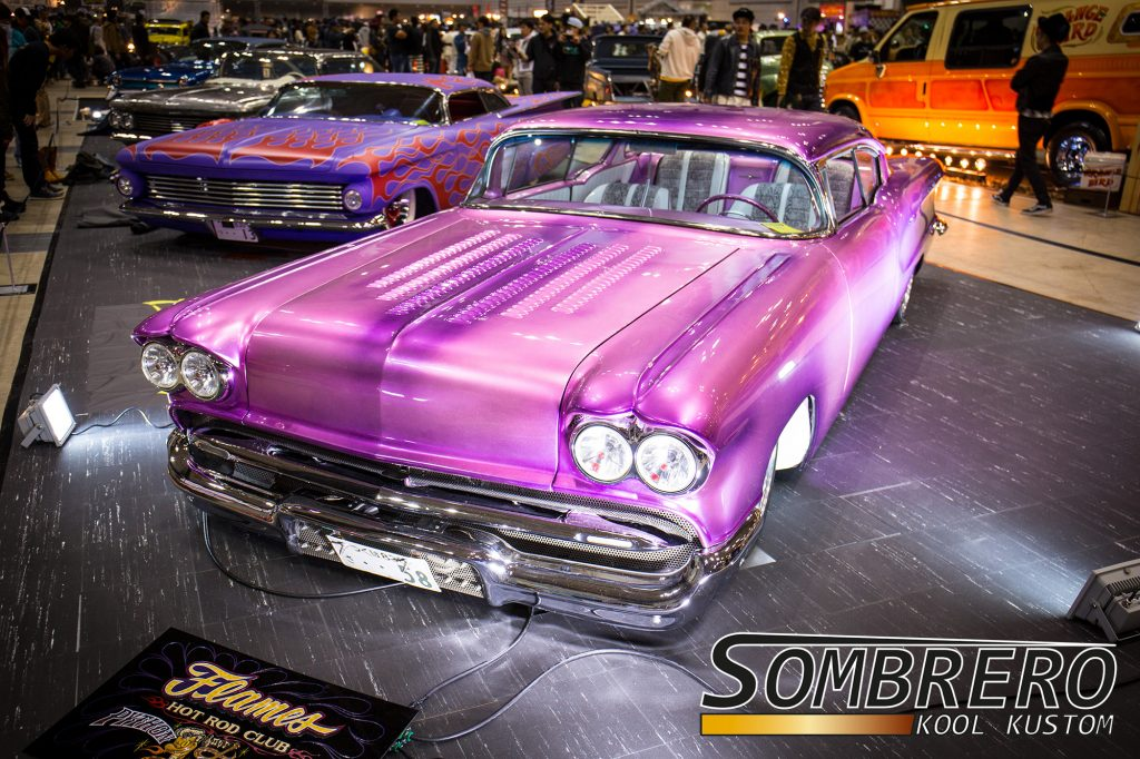 1958 Pontiac Chieftain 2dr Hardtop Coupé, Kustom Car, Louvers, Fadeaway Paintjob