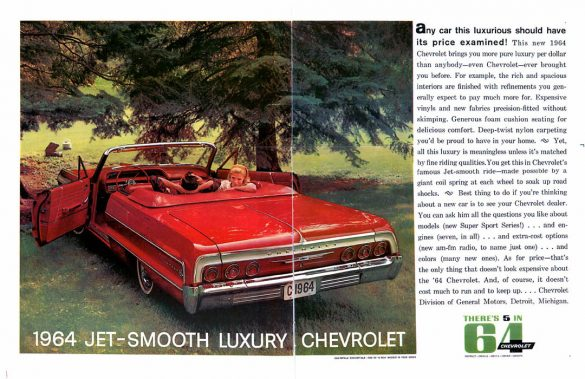 1964 Chevrolet Impala Convertible Werbung, Jet Smooth Ride