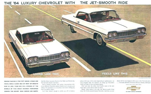1964 Chevrolet Impala Hardtop Coupé Werbung, Jet Smooth Ride