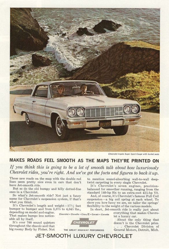 1964 Chevrolet Impala SS Hardtop Coupé Werbung, Jet Smooth Ride