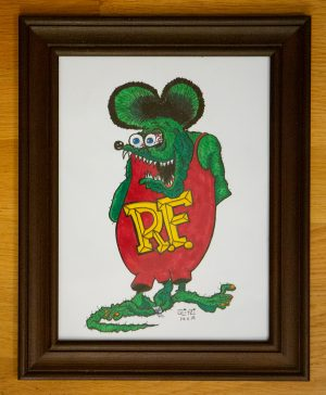 Rat Fink, Lowbrow Art by Von Glitzi