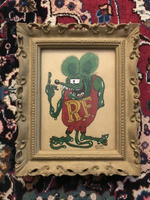 Rat Fink Fucker, Lowbrow Art by Von Glitzi