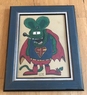 Super Fink, Lowbrow Art by Von Glitzi